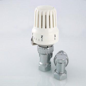 Комплект терморегулиующего оборудования для радиатора угловой