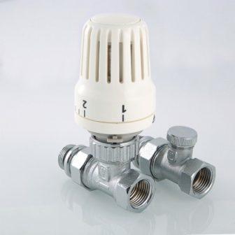 Комплект терморегулируюшего оборудования для радиатора прямой