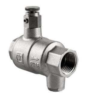 Зворотний клапан з дренажем і відводом повітря