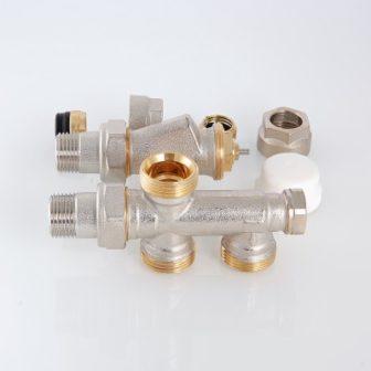 Узел термостатический для нижнего подключения радиатора (комплект)