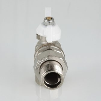 Кран шаровой VALTEC BASE угловой с полусгоном и белой ручкой