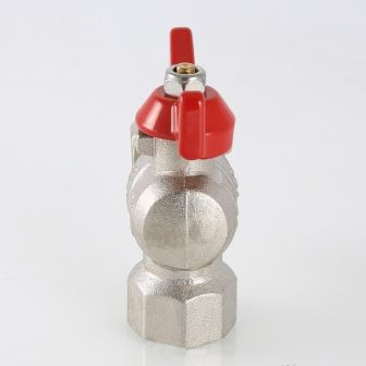 Кран шаровой угловой с накидной гайкой и внутренней резьбой