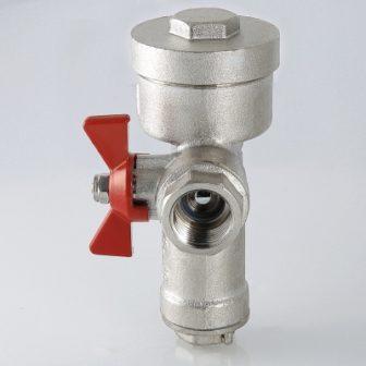 Кран кульовий з вбудованим фільтром і редуктором тиску (КФРД), правий