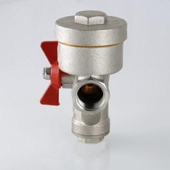 Кран кульовий з вбудованим фільтром і редуктором тиску (КФРД), лівий