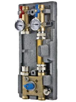 Насосный модуль с байпасом и четырехходовым клапаном