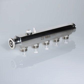 Коллектор из нержавеющей стали с межосевым расстоянием выходов 50 мм