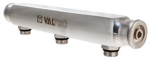 Коллектор из нержавеющей стали с межосевым расстоянием выходов 100 мм
