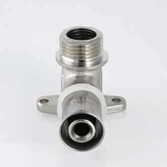 Пресс-фитинг – угольник с креплением (водорозетка) с наружной резьбой