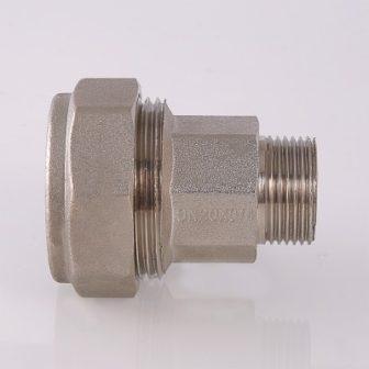 Фитинг обжимной для стальных труб с переходом на наружную резьбу
